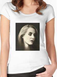 Gillian Anderson portrait Women's Fitted Scoop T-Shirt