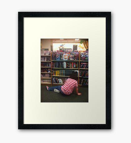 comic book nerd Framed Print