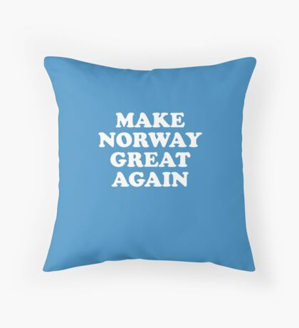 Make Norway Great Again Throw Pillow