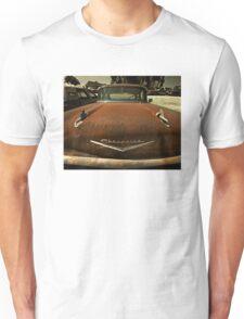 Abandoned 1957 Chevy Bel Air Hood Unisex T-Shirt