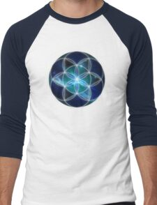 Sacred Geometry: Seed of Life - Cosmic Genesis Men's Baseball ¾ T-Shirt