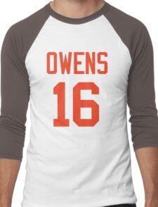 Owens 16 (Orange Name/Orange No.) Men's Baseball ¾ T-Shirt