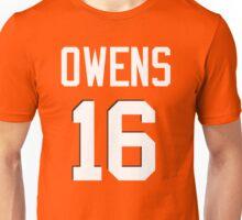 Owens 16 (White Name/White No.) Unisex T-Shirt