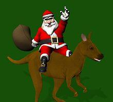 Santa Claus Riding A Kangaroo by Mythos57