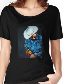 Chisholm...Portrait Of A Cowboy Women's Relaxed Fit T-Shirt