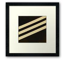 Adidas Black Stripe  Framed Print