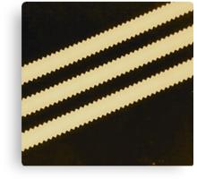 Adidas Black Stripe  Canvas Print