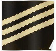 Adidas Black Stripe  Poster