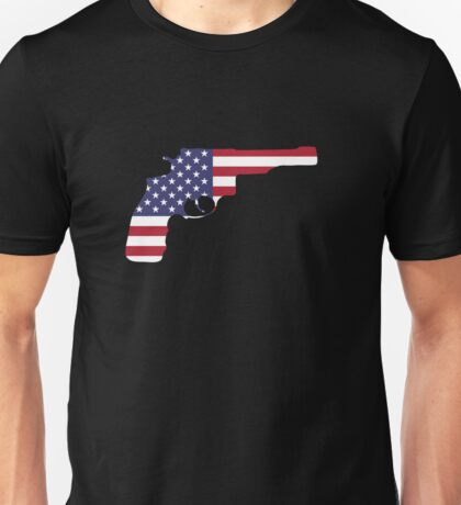 American Flag Gun Unisex T-Shirt