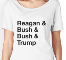 Four Republican Presidents Typography Women's Relaxed Fit T-Shirt
