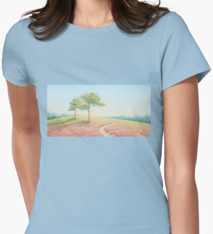 Pines, Evening Sun, New Forest Womens Fitted T-Shirt