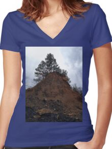 Lone Pines Women's Fitted V-Neck T-Shirt
