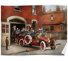 Fire Truck - The flying squadron 1911 Poster