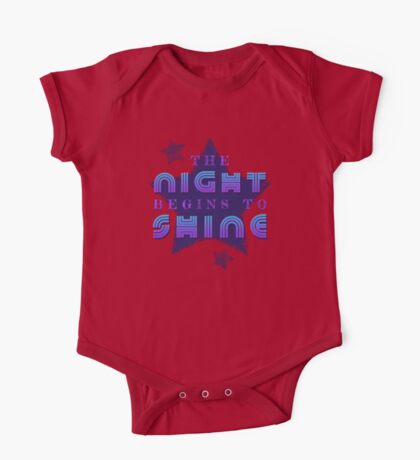 The Night Begins To Shine One Piece - Short Sleeve
