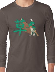 Decidueye With Grass Kanji Long Sleeve T-Shirt