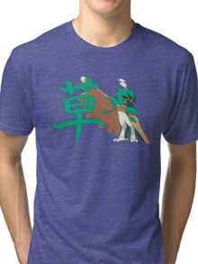 Decidueye With Grass Kanji Tri-blend T-Shirt