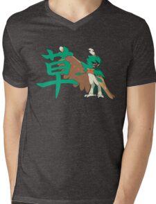 Decidueye With Grass Kanji Mens V-Neck T-Shirt
