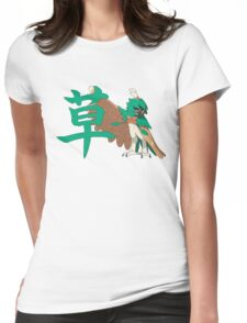 Decidueye With Grass Kanji Womens Fitted T-Shirt