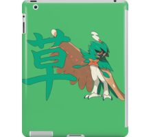 Decidueye With Grass Kanji iPad Case/Skin