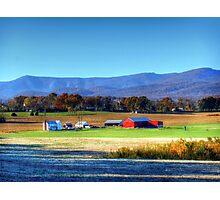 Autumn Farm HDR Photographic Print