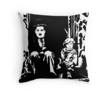 The Kid Charlie Chaplin Throw Pillow