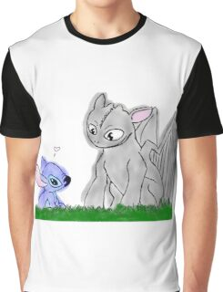 Toothless and Stitch Graphic T-Shirt
