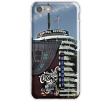 Capital Records building with American Flag iPhone Case/Skin