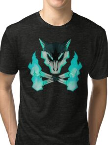 Pokemon - Alolan Marowak Skull Tri-blend T-Shirt