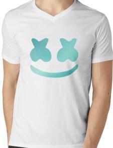 Marshmello - Turquoise Color Mens V-Neck T-Shirt