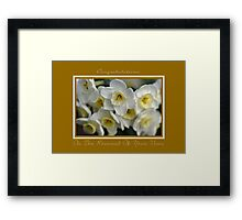 Congratulations On The Renewal Of Your Vows Framed Print