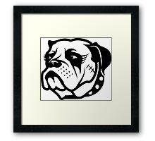 Punk Girl Dog Framed Print