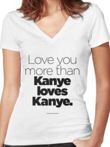 Love like Kanye love Kanye Women's Fitted V-Neck T-Shirt