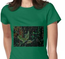ABSTRACT CAMO Womens Fitted T-Shirt