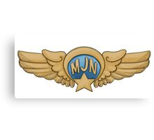 MJN Pilot Wings Canvas Print