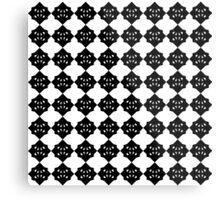 star icosaoctahedron print blkA1 Metal Print
