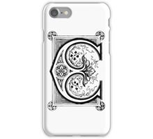 Old print ornament letter E iPhone Case/Skin