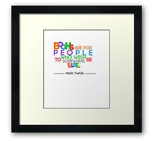 Books are for People.. Framed Print