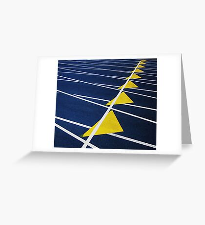 Triangle Formation Greeting Card