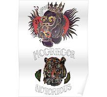 conor mcgregor (gorilla and tiger) Poster