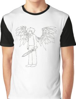Glass Winged Angel Knight Graphic T-Shirt