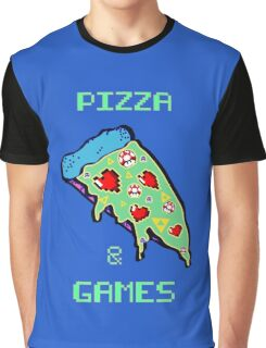 Pizza & Games Graphic T-Shirt