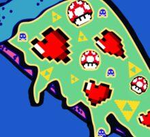 Pizza & Games Sticker