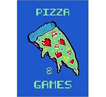 Pizza & Games Photographic Print