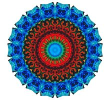 Inner Peace - Kaliedescope Mandala by Sharon Cummings by Sharon Cummings