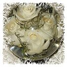 Flower Aquarium With White Roses by Sandra Foster