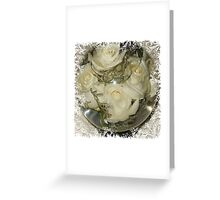 Flower Aquarium With White Roses Greeting Card