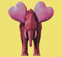 Romantic Pink Elephant Kids Clothes