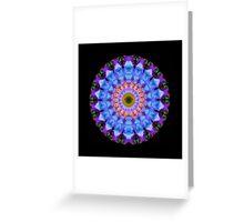 Sacred Crown - Mandala Art By Sharon Cummings Greeting Card