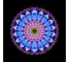 Sacred Crown - Mandala Art By Sharon Cummings Photographic Print