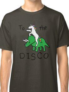 unicorn dinosaurs  to the disco Classic T-Shirt